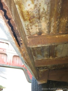 left side inner sill rust but the jack point looks ok