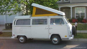 Our Campervan on arrival at North Carolina
