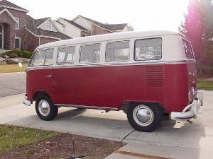 L555 Titian red L472 Beige grey vw camper