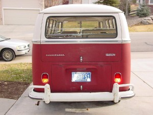 Titian red VW Camper original paint