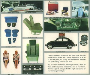 1965 brochure Beetle accessories