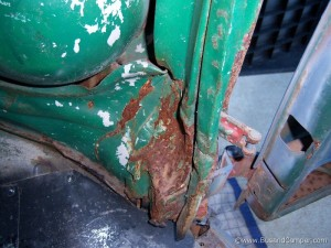 a-pillar damage to our VW project