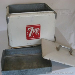 7up cooler vintage progress