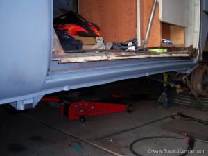 Long sill under campervan sliding door replaced