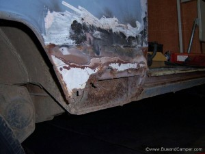 van short sill needs replacing