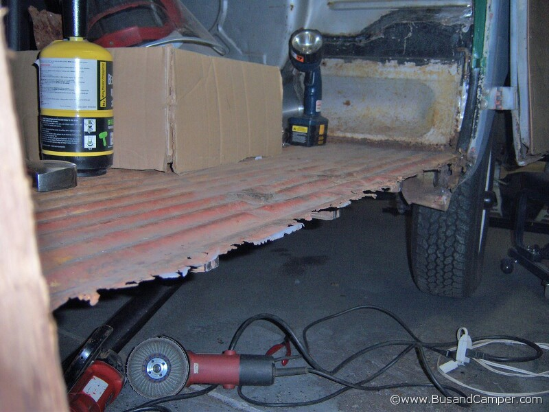Vw Camper Repair Cargo Door Side Sills Inside And Out