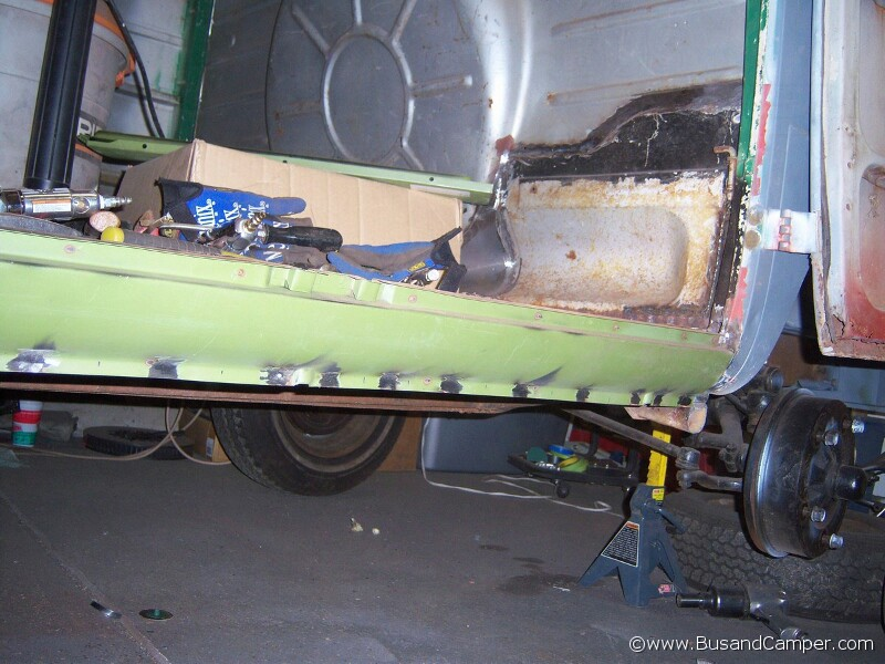 VW Camper Repair cargo door side sills inside and out | Bus