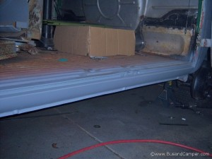 Cargo door sill all repaired and ready to go