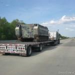 US military Tank on low hauler