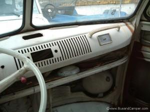 VW Bus deluxe dash original radio hole