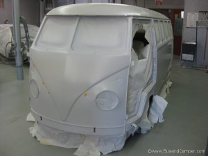 Primered Nose on our VW Bus