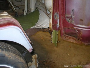 vw camper cut floor and dogleg