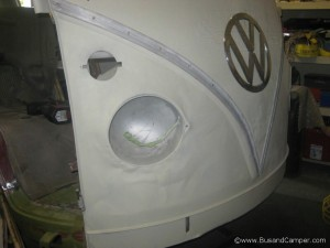 Front nose painted vw camper
