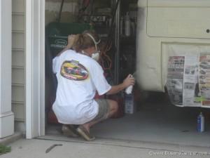 Campervan aerosol paint