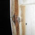 grind off welds behind door shut