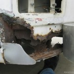 Rusted out lower nose on our VW