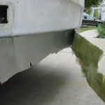 Long piece of fibreglass repair