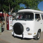 Front of our Campervan at Hackberry