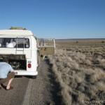 VW Camper broken down on route 66