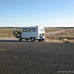 1971 Westfalia with an engine porblem on Route 66