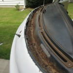 Window bed rust and previous repair VW Camper