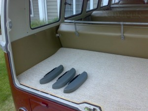 VW Camper interior rear hatch squareweave carpet