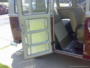 VW Soundproofing damper on cargo door