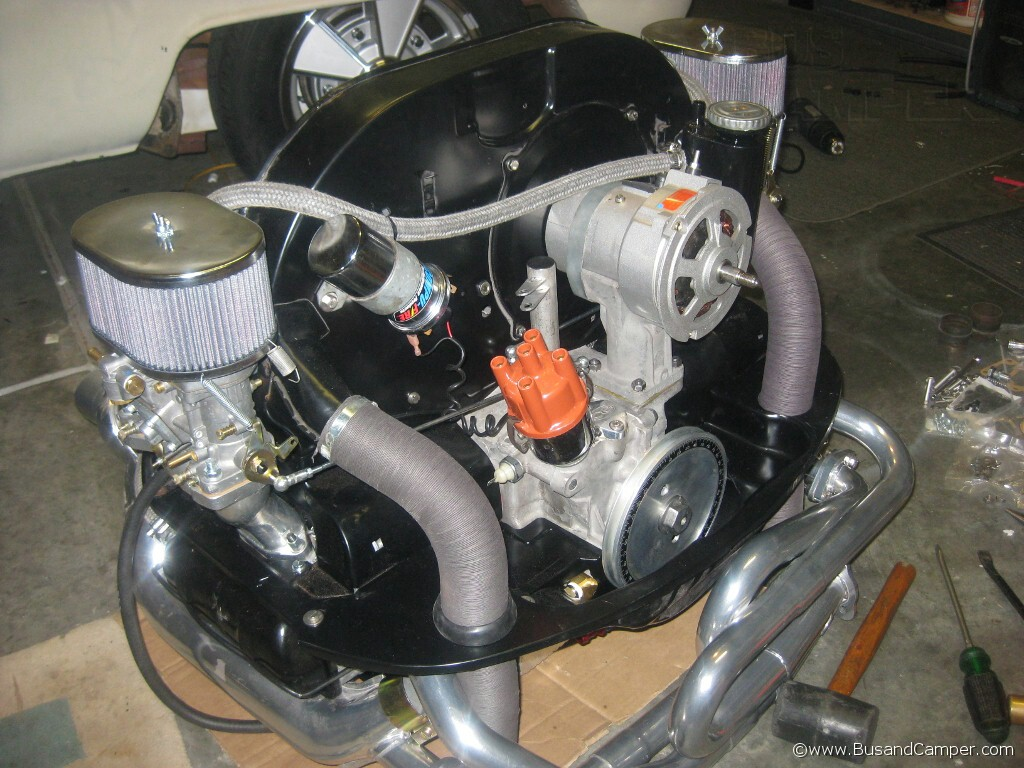 Dragbus Our Big Air Cooled 2276cc Engine In A Vw Camper