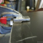 Making a step for seam welding