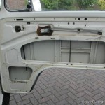 cleaned up original vw bay inside of front door