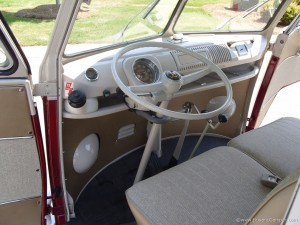 VW Camper drivers seat and steering wheel