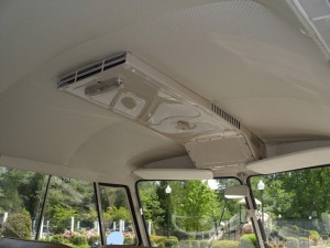 Replacement headliner in vw campervan
