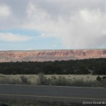 Awesome scenery at the state line into NM