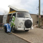 VW Camper resting nicely for the night at Grants
