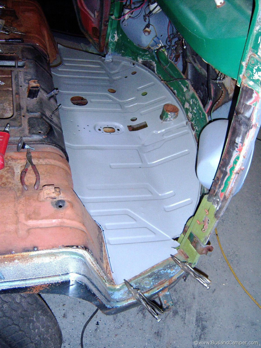 Vw Camper Front Floor Replacement 65 Project Bus Bus And
