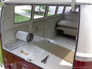 VW Camper soundproofinng luggage compartment