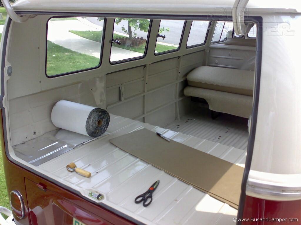 VW Camper Soundproof materials   Bus and Camper