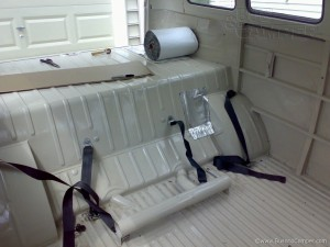 VW Camper soundproofing under the rear seat