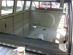 Sound absorber mat in VW Camper