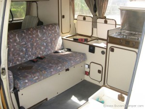 interior of our camper