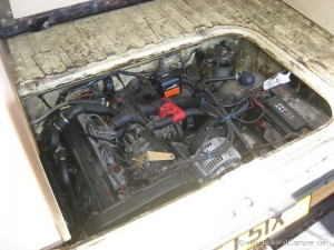 Engine bay access on a diesel T3