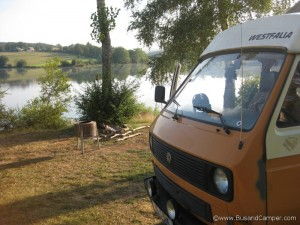 Perfect getaway with a T25 Westfalia VW campervan