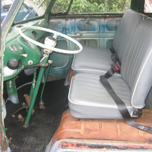 Front cab area of a VW bus