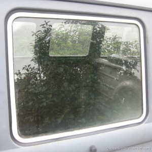 restored pop out window on our Camper