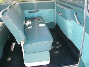 vw camper full width middle seat como green original