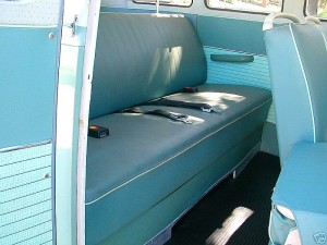 vw camper rear seat and original como rear kick panel