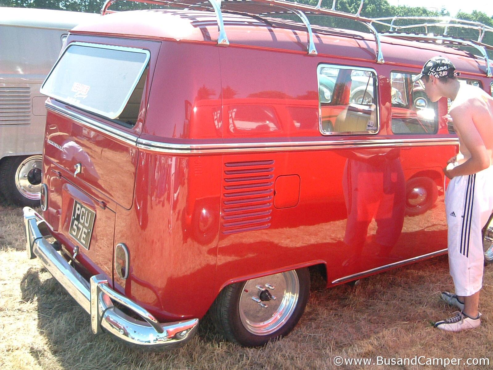 red camper custom
