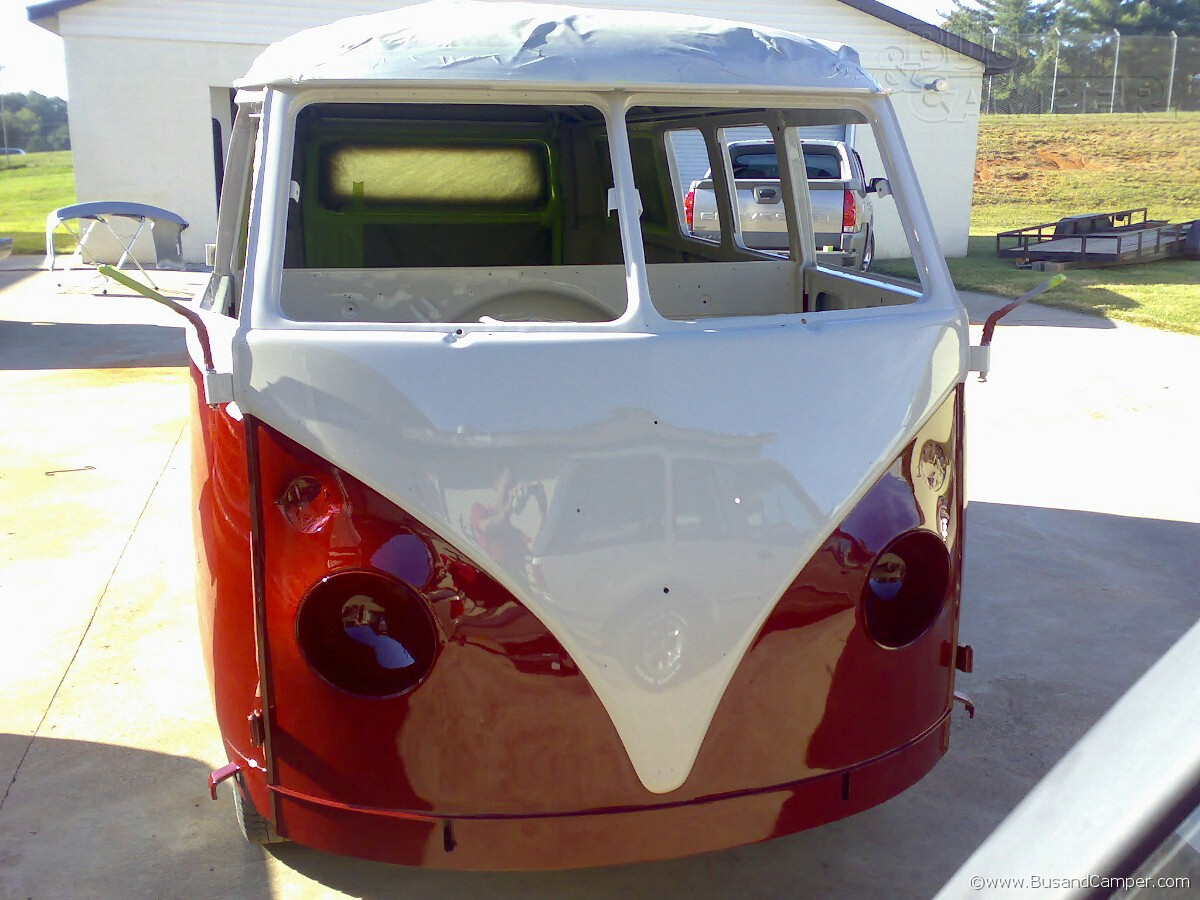 VW Bus Front Painted