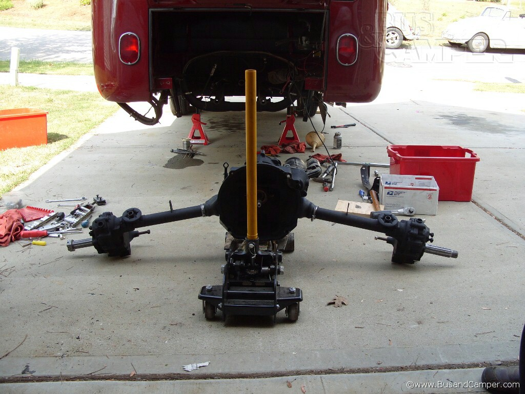 Gearbox on a jack