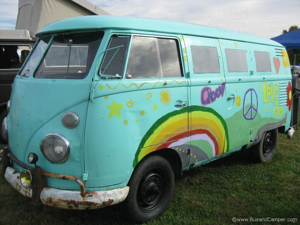 hippy paint Van